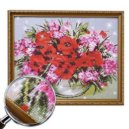 Wild-lOVE HOMFUN Complete/Square/Round Drill 5D DIY Diamond Painting Blue Flower and Bird 3D Embroidery Cross Stitch 5D Home Decoration A01527,Square Drill 120x120 by Wild-lOVE (Image #3)
