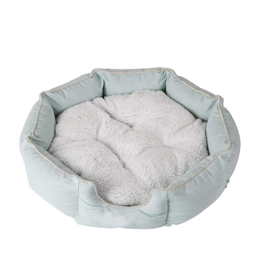 50x12 cm Mzdpp Luxury Eight-Sided Soft Dog Bed Autumn And Winter Warm Lambskin Detachable Pet Mat 50  12 Cm
