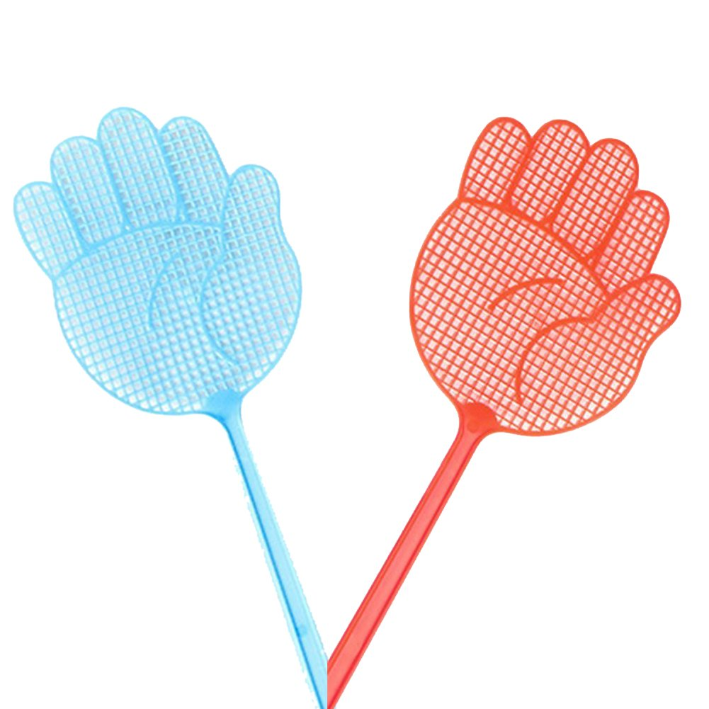 2x Chytaii Fly Swatter Swats Insect Bug Bee Mosquito Wasps Swats Killer Plastic Fly Hand Swatter Ransom Colour