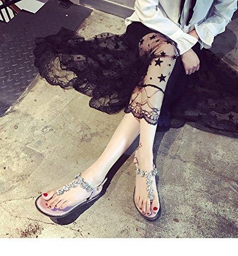 bohème strass flip 2017 chaussures chaussures et plates rétro sandales d'été chaussures plage casual Rose sequins printemps wwOqxS80
