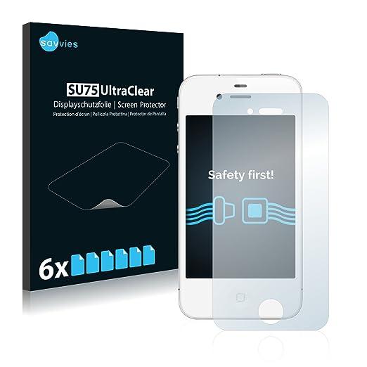 72 opinioni per [6 Pack] Savvies Pellicola Protettiva per Apple iPhone 4S Protezione Proteggi