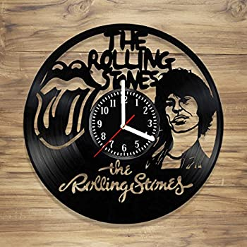 Amazon Com Wall Clock From Real Vinyl Rolling Stones