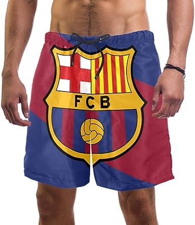 LORVIES - Bañador para hombre, diseño de bandera de color Fo Barcelona: Amazon.es: Ropa y accesorios