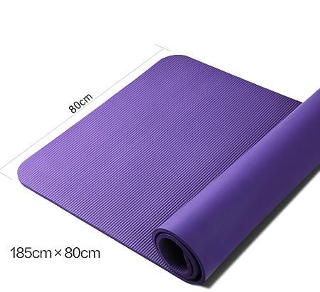 Yuhao - Esterilla de Yoga Profesional, Antideslizante, 10 mm ...