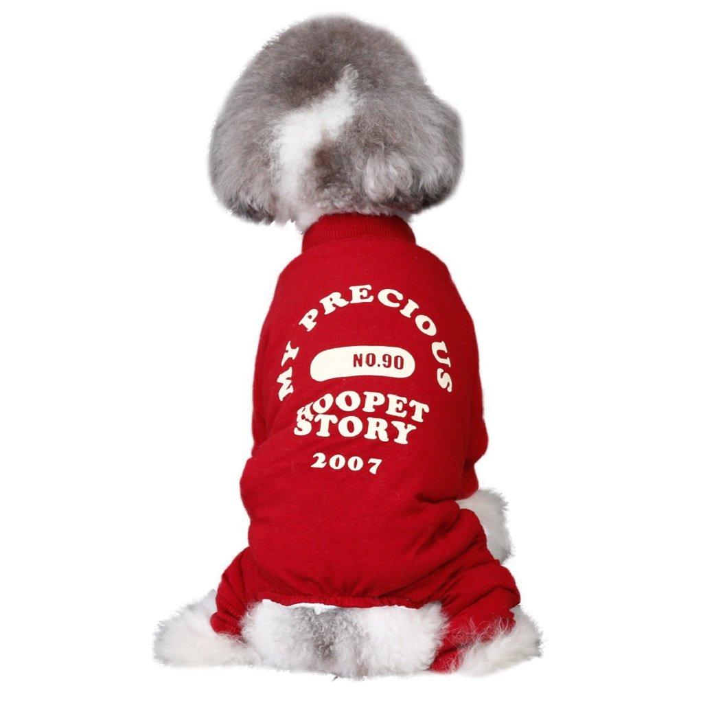 GY Meng Pet Home Hoopet Mascota Ropa para Perros Osos de Peluche Oso Keji Law Fight Más Grueso Perros pequeños y medianos de Cuatro Patas Ropa de otoño e Invierno /+-+/ (Tamaño : Metro)