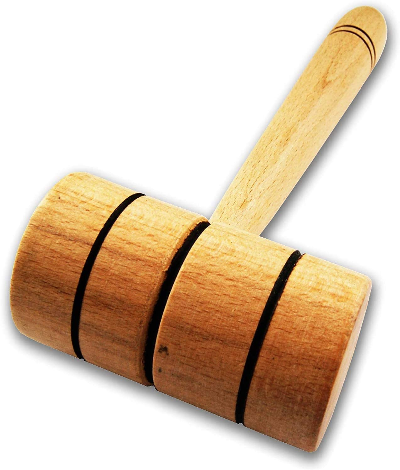 Wooden Meat Tenderizer Mallet - Practical Kitchen Tool Natural Premium Wood Heavy Duty Hammer Mallet Tool & Chicken Pounder