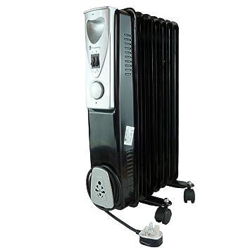 Radiador Eléctrico 1.5kW Negro Radiador De Aceite