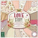 "Trimcraft Fogli di carta decorativa, qualità premium, tema ""love story"", prima edizione, 30x 30cm"