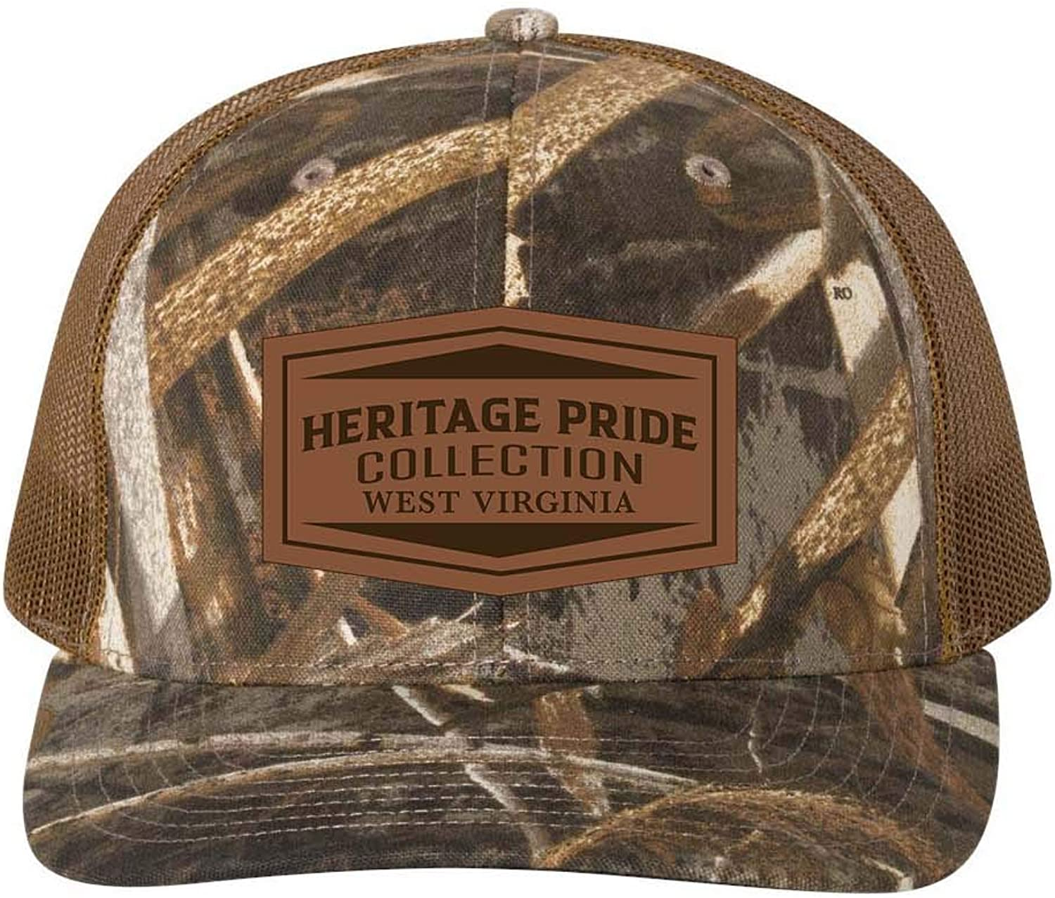 Heritage Pride Max 5 Camo Laser Engraved Leather Patch State Pride Hat