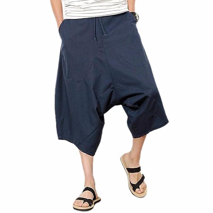Z Los Hombres De Los Pantalones Cortos del Harem Retro Capri De Hip-Hop   Amazon.es  Ropa y accesorios d08677a7b5e