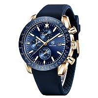 BENYAR - Stylish Wrist Watch for Men, Genuine Silicone Strap Watches, Perfect Quartz...