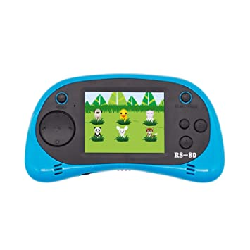 Amazon.com  Hades RS-8D Kids Handheld Retro Game Console Built-in 260  Classic Games TV Video Games with 8 Bit Classic Games for Children (Light  Blue)  Toys ... 3a4468a896