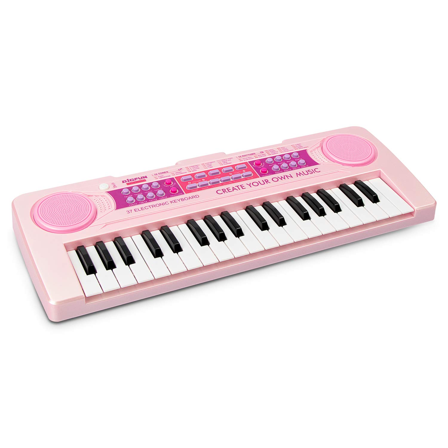 aPerfectLife Kids Keyboard Piano, 37 Keys Multi-Function Charging Electronic Educational Toy Organ for Kids Toddlers Children with Microphone (Pink) by aPerfectLife