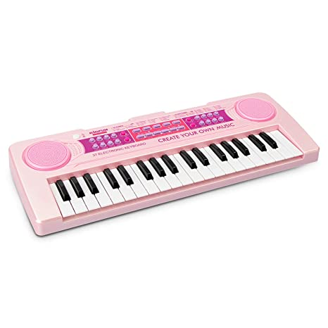 9ce167d4ba3 Amazon.com  aPerfectLife 37 Keys Multi-Function Charging Electronic Kids  Piano Keyboard Educational Toy Organ for Kids Toddlers Children with  Microphone ...