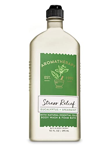 Bath & Body Works Aromatherapy Stress Relief - Eucalyptus + Spearmint Body Wash & Foam Bath, 10 Fl Oz