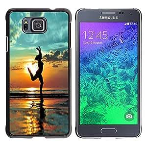 YiPhone /// Prima de resorte delgada de la cubierta del caso de Shell Armor - Beach Yoga Summer Shadow Relief - Samsung GALAXY ALPHA G850