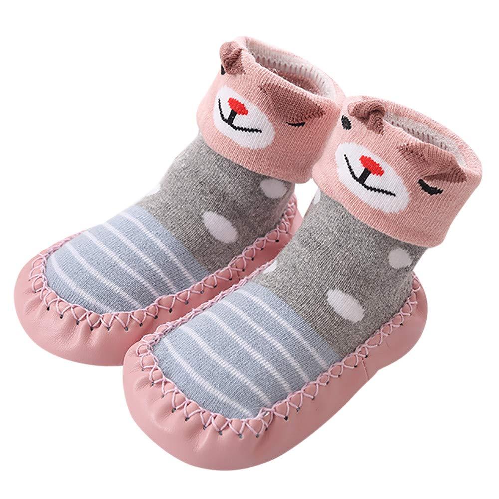 Clode® Newborn Infant Baby Boys Girls Winter Warming Booties Toddler Kids Soft Sole Socks Cotton Children Floor Socks Anti-Slip Baby Step Socks Prewalker Shoes Clode-B-014