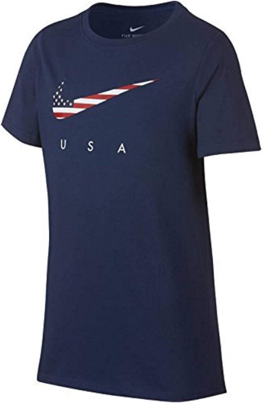 repetición Elucidación Fuerza motriz  Amazon.com: Nike Team USA Swoosh Flag Youth T-Shirt AR4058 410 (Medium):  Clothing