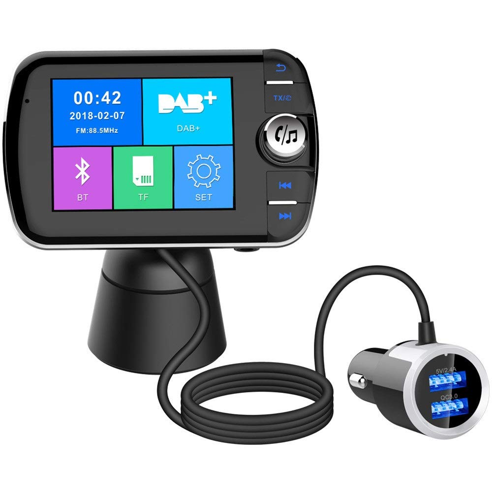 Car Bluetooth Receiver Wireless Car Kits Bluetooth FM Transmitter For Car Wireless Radio Adapter Hands-Free Kit Car Fast Charge With Hands-free Calling For Women And Men Audio Component Receivers by DERTHWER