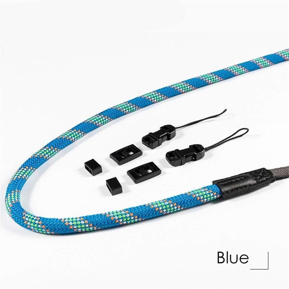 Color : Blue Camera Belt Accessory Hand-Woven Nylon Mountaineering Rope Camera Shoulder Neck Strap 85cm to 185cm Belt for DSLR Digital Camera Durable