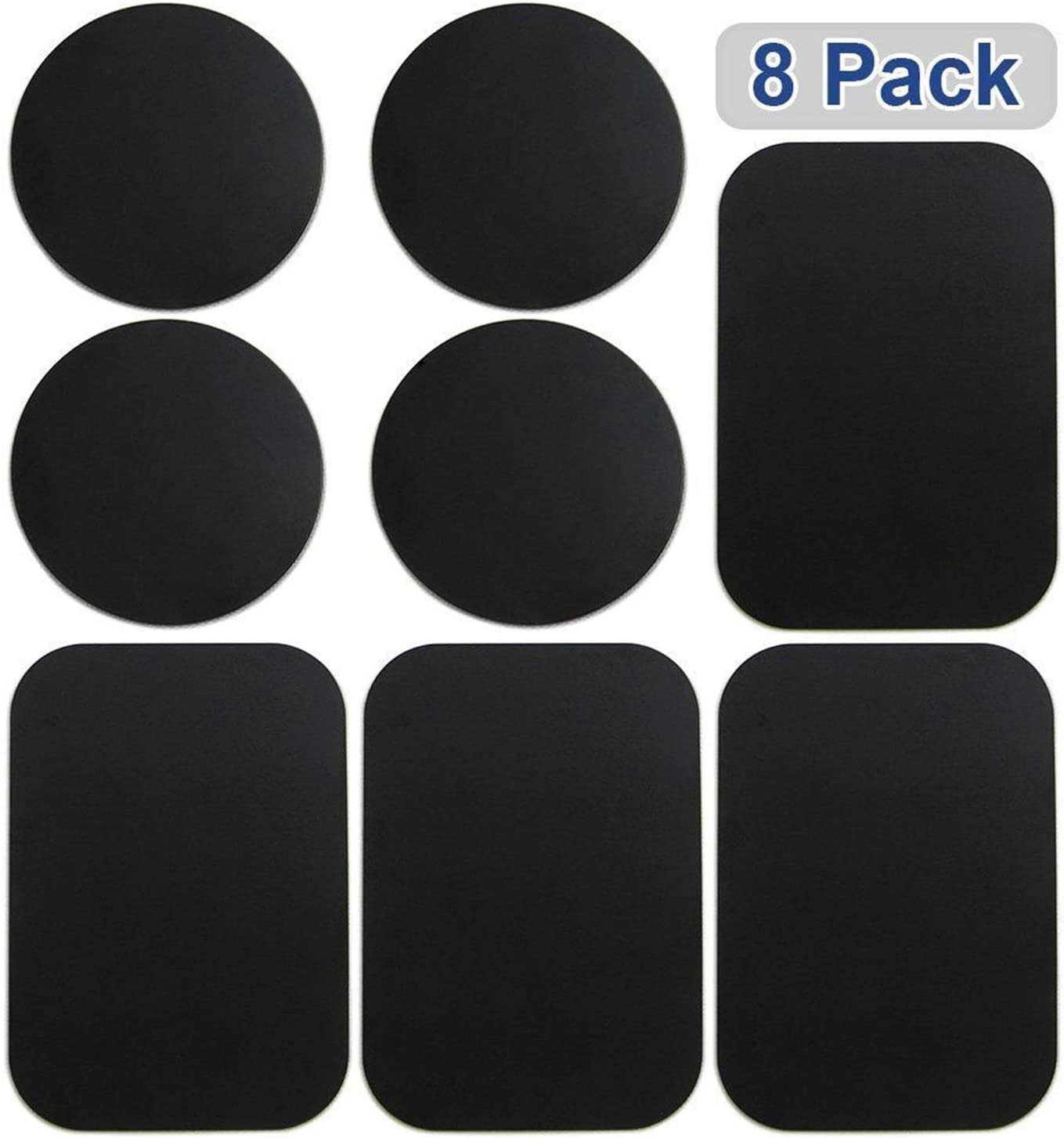 Rectangular Plates,8pcs Metal Plates Sticker Car Mount Replace Metal Adhesive Plate for Magnetic Phone Car Holder Super Thin Steel Insert Plate