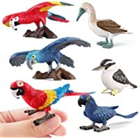 Fantarea Simulation Bird Animal Action Models Figures Figurines Set Toys Flying Parrot Desktop Decoration Cake Toppers Crafts Gift Playset Toys for Kid Boys Girls Toddlers 5 6 7 8 Years Old(6 pcs)