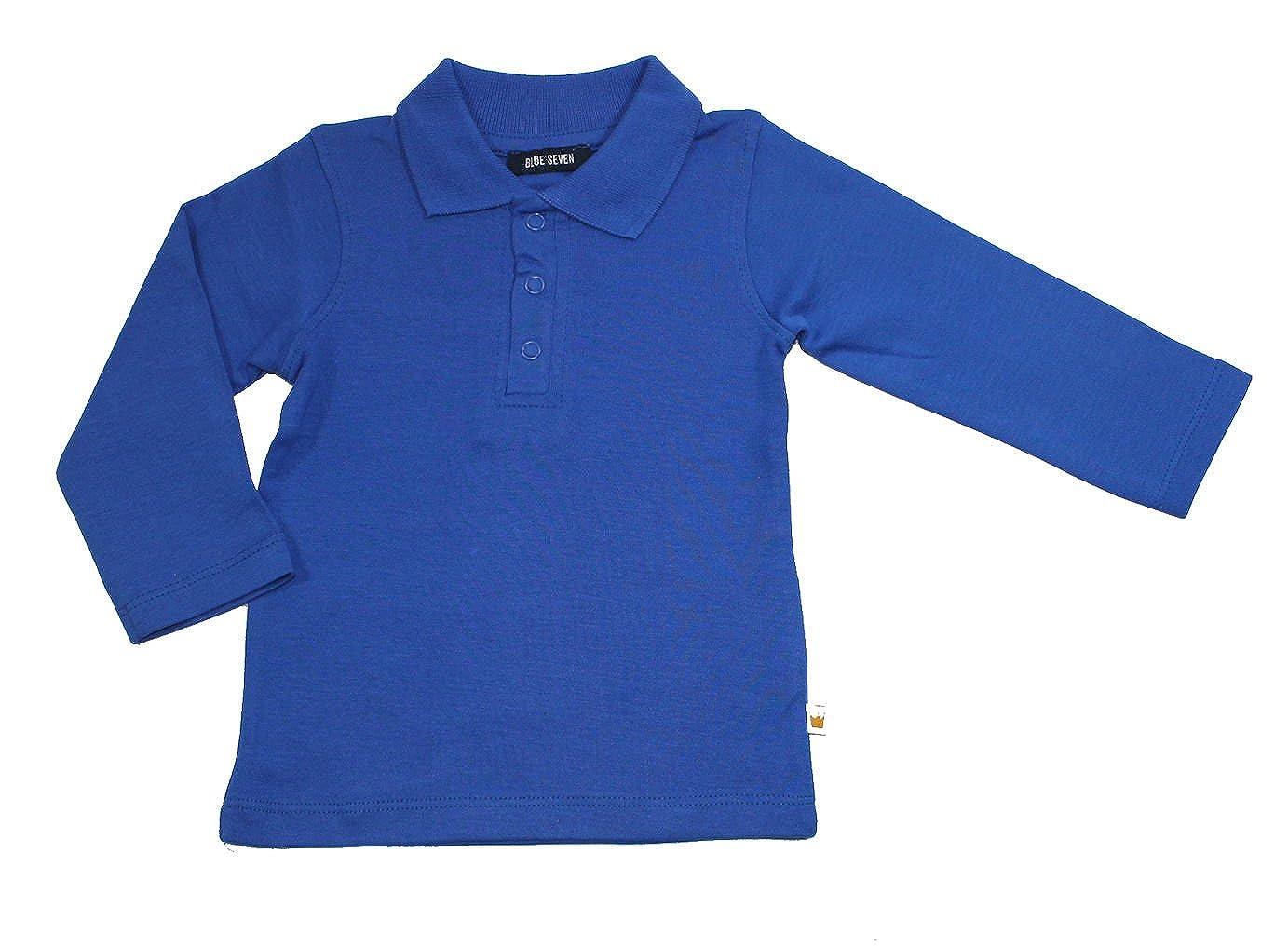 Blue Seven Baby Jungen Poloshirt Langarm Basic Ocean Blau