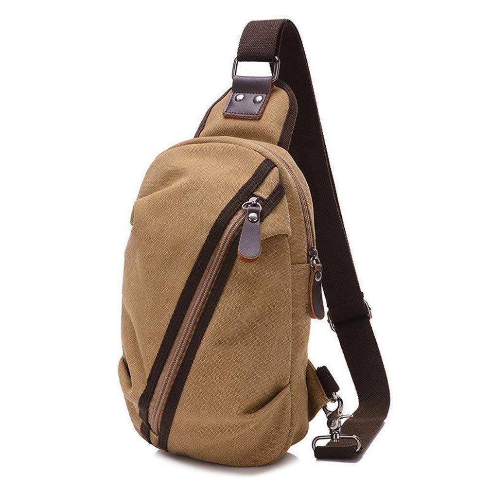 66e8cd5419 Amazon.com  Men Crossbody Bag Male Shoulder Sling Bag Leisure Mens Chest  Bags Travel Messenger Bag Women Black  Clothing