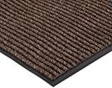 NoTrax 117S0035BR 117 Heritage Rib Entrance Mat, for Lobbies and Indoor Entranceways, 3' Width x 5' Length x 3/8'' Thickness, Brown