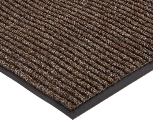 NoTrax 117S0035BR 117 Heritage Rib Entrance Mat, for Lobbies and Indoor Entranceways, 3' Width x 5' Length x 3/8'' Thickness, Brown by NoTrax Floor Matting