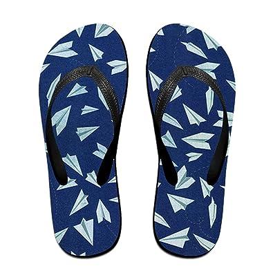 Unisex Non-slip Flip Flops Giraffe With Pizza Cool Beach Slippers Sandal