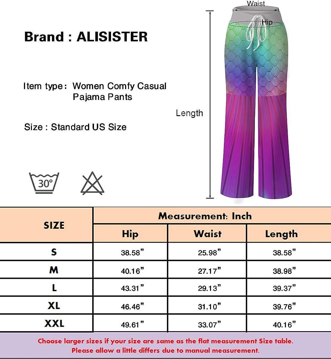 ALISISTER Womens Pajama Bottoms Comfy Palazzo Lounge Pant Sleepwear