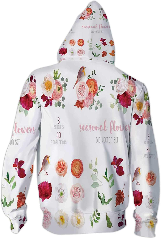 C COABALLA Colorful Store Illustration Style,Mens Print 3D Fashion Hoodies Sweatshirts Supermarket S