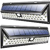 Litom 54 LED Solar Lights Outdoor Solar Power Light with Motion Sensor for Driveway Garden 2 Pack