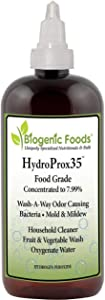 HydroProx 35 - Pure 35% Food Grade Hydrogen Peroxide (Diluted to 7.99% for Un-Restricted Shipping) 8 oz