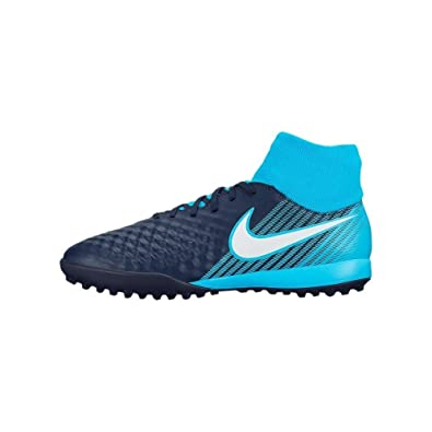 more photos 9b4cb 44b93 Nike Herren Magista X ONDA II DF TF 917796 Fußballschuhe Obsidian Weiß-Gamma  Gletscher Blau