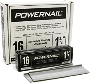 "Powernail PowerCleats 16ga 1-3/4"" Cleat for Hardwood Flooring box of 5000 cleats"