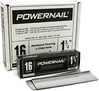 """product image for Powernail PowerCleats 16ga 1-3/4"""" Cleat for Hardwood Flooring box of 5000 cleats"""