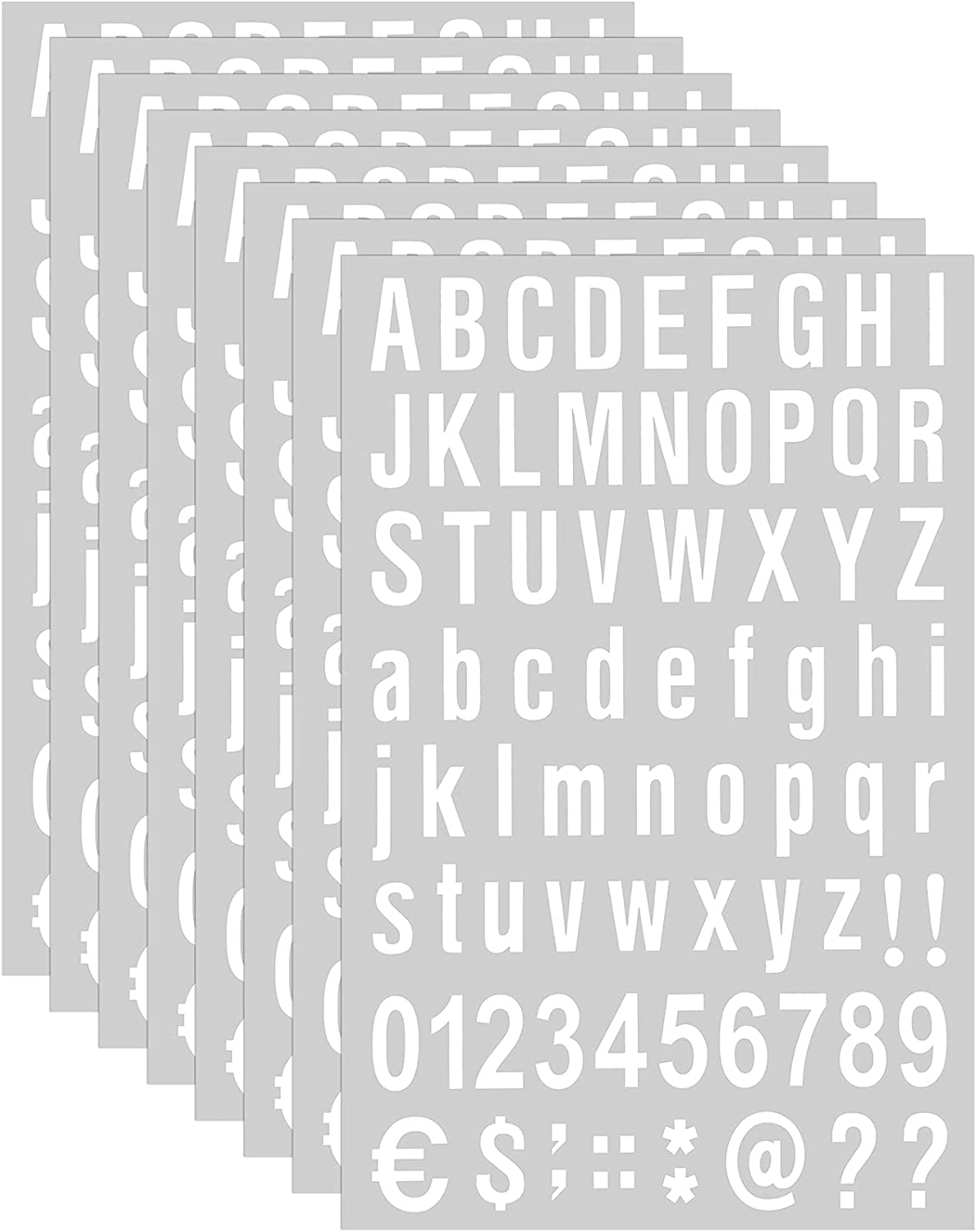 8 Sheets Self Adhesive Vinyl Letters Numbers Kit, Mailbox Numbers Sticker for Mailbox, Signs, Window, Door, Cars, Trucks, Home, Business, Address Number (1 Inch, White)