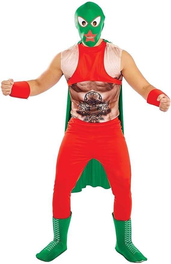 Fun Shack Rojo Luchador Mexicano Disfraz para Hombres: Amazon.es ...