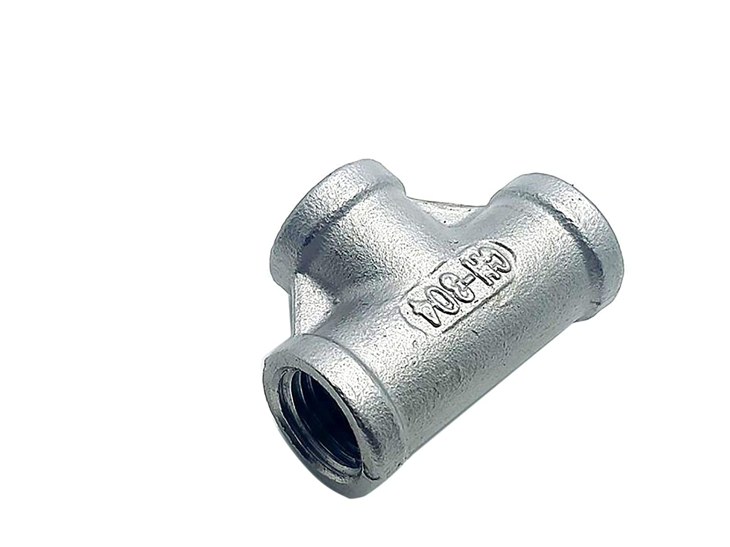 Yodaoke 4pcs 1//4 Tee T 3 Way Female 304 SS Threaded Connector Pipe Fitting NPT