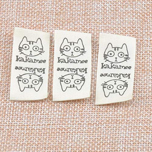 - Cute Cat Stock Clothing Label Tag Beige Woven Tagging Bag Washable Garment 21x42mm 50pcs Cp1538 - Phone & Accessory Home & Garden Beauty & Health Automotive Toy & Sport Wedding