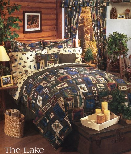 plaid size piece p cabin comforter s set of rustic sets picture alternative king down brown