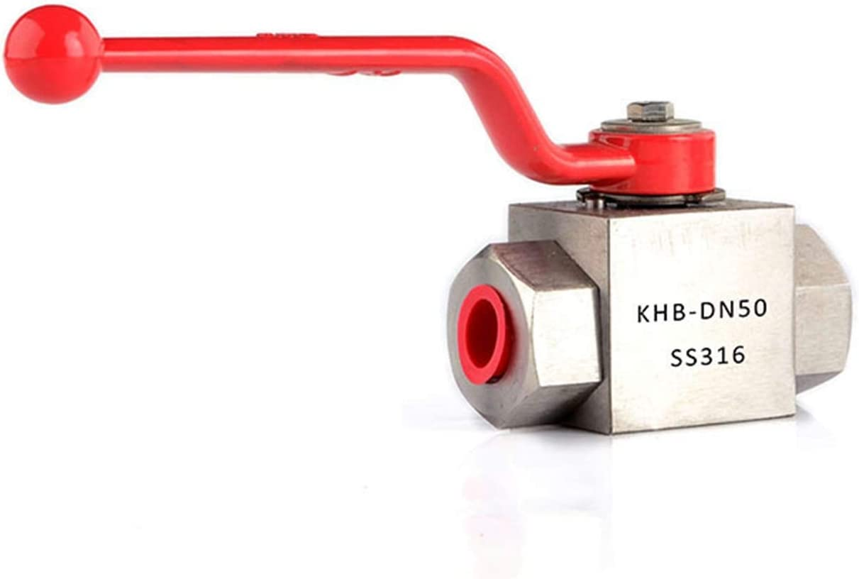 KHB-G1//8 1//4 3//8 1//2 Stainless Steel 304//316 High Pressure Hydraulic Ball Valve Anti Corrosion Design Color : NPT, Size : 1//8