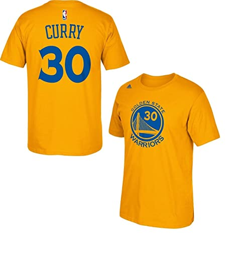 96ef1c753 Stephen Curry Golden State Warriors Gold Jersey Name and Number T-shirt  Medium