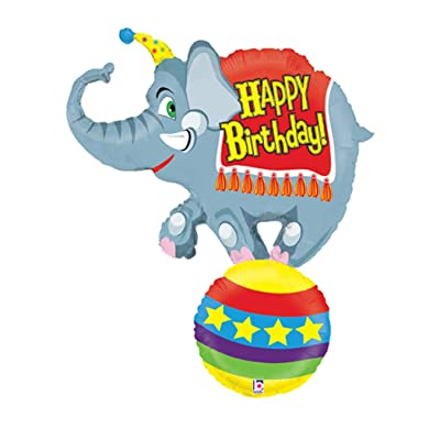 Betallic Circus Elephant Jumbo Foil Balloon (Gray) Party Accessory: Toys & Games