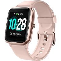 Lintelek Reloj Inteligente Mujer Hombre, Smartwatch con Monitor de Pasos, Calorías,…