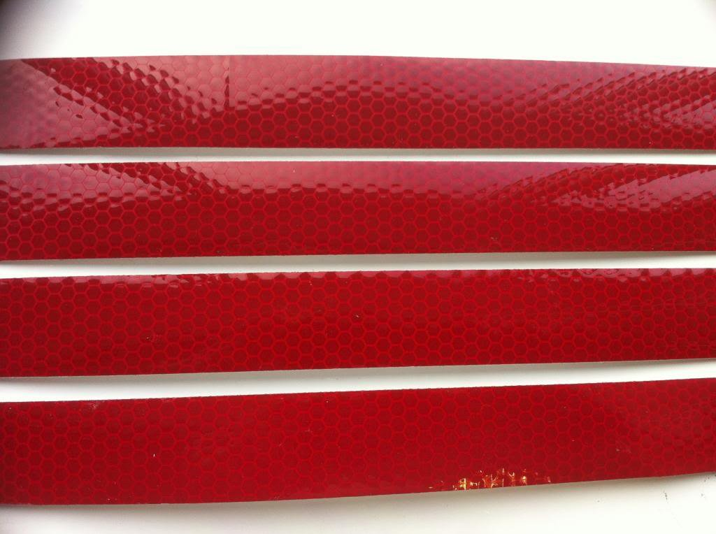 Hi Viz Intensity Grade Red Reflective Tape 25mm X 300mm - 4 Off Direct Products