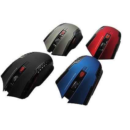 OHQ_RatóN inalambrico Hot Mini 2.4GHz Ratón óptico inalámbrico Gamer PC Portátiles Juegos ratón Juegos Auriculares