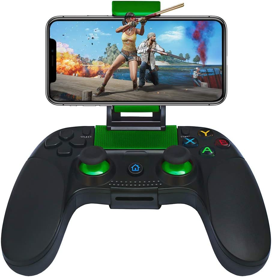 Haolide Wireless Mobile Game Controllers Gamepad for 4-6Inch Android iOS Phone
